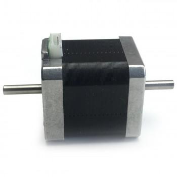 Шаговый мотор с двойным валом Nema 17, 4.5кг/см, 1.5А