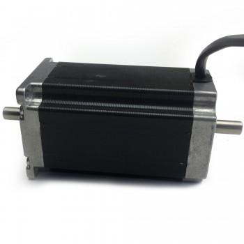 Шаговый мотор с двойным валом Nema 23, 30 кг/см, 3А
